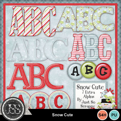 Snow_cute_alphabets