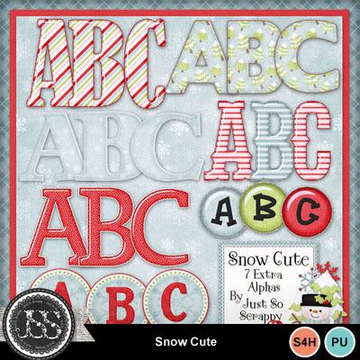 Snow_cute_alphabets