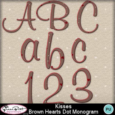 Kissesbrownheartsdotsmonogram1-1