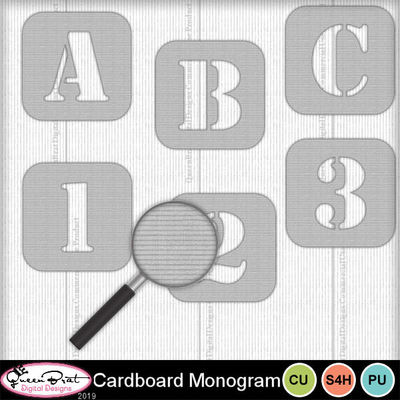 Cardboardmonogram