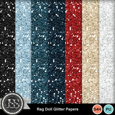 Rag_doll_glitter_papers