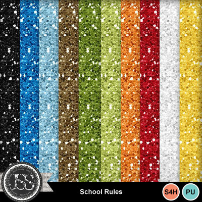 School_rules_glitter_papers