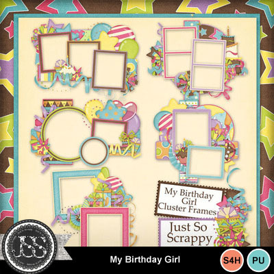 My_birthday_girl_cluster_frames