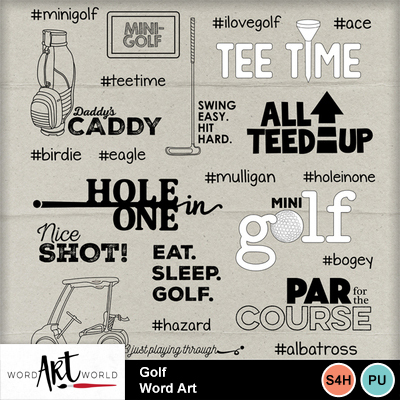 Golf_word_art