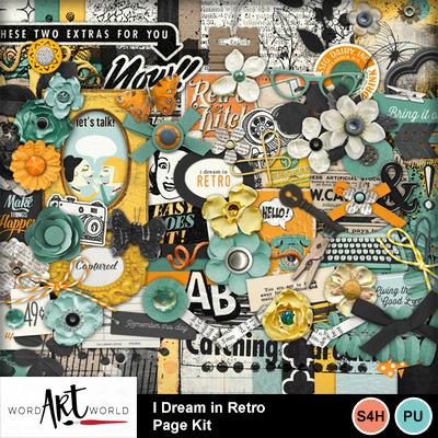 I_dream_in_retro_page_kit