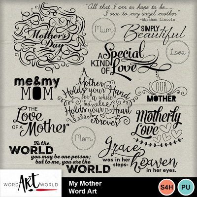 My_mother_word_art