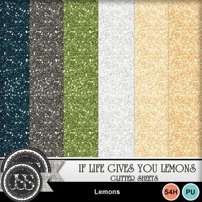 Lemons_glitter_papers