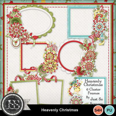 Heavenly_christmas_cluster_frames