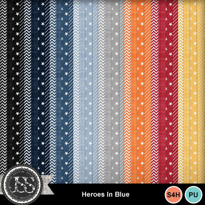 Heroes_in_blue_pattern_papers