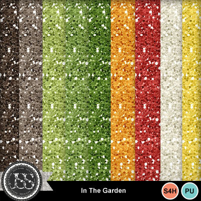In_the_garden_glitter_papers