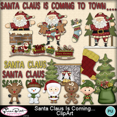 Santaclausiscoming_clipart-1