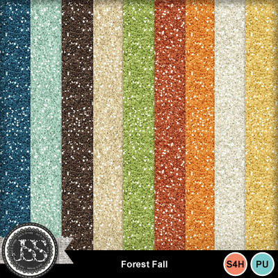 Forest_fall_glitter_papers