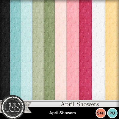April_showers_embossed_papers