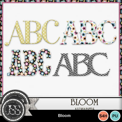 Bloom_alphabets