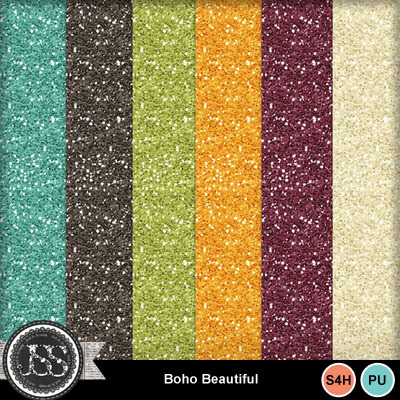 Boho_beautiful_glitter_papers