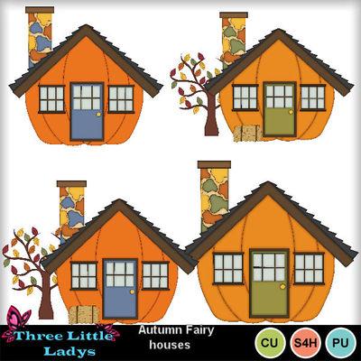 Clip Art | Autumn Fairy Houses-(TLL) | Craftable - Printables