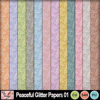 Peaceful_glitter_papers_preview
