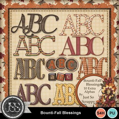 Bountifall_alphabets