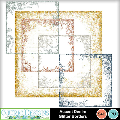 Accent-denim-glitter-borders