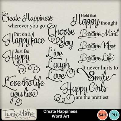 Create_happiness_word_art