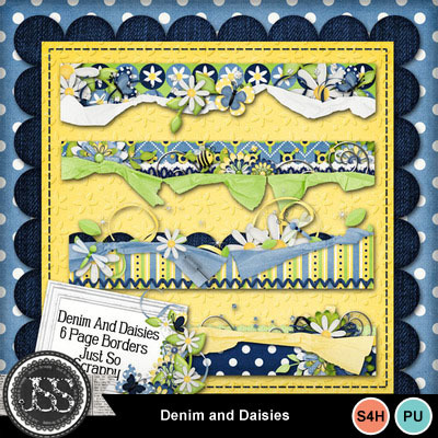 Denim_and_daisies_page_borders