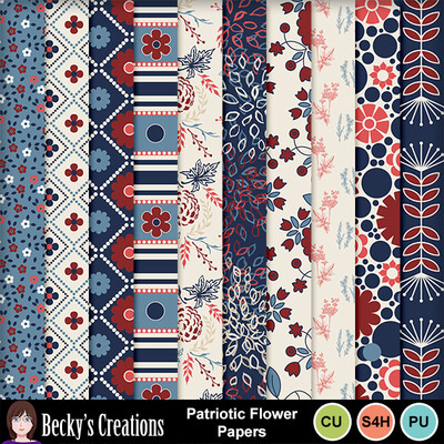 Patriotic_flower_papers