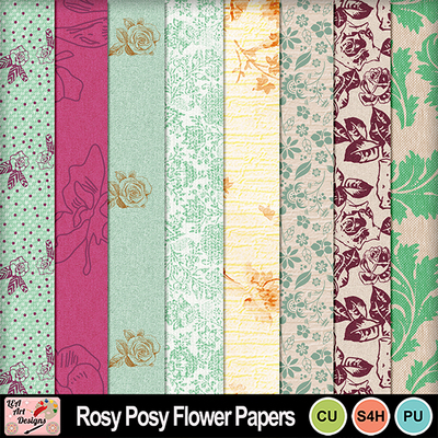 Rosy_posy_flower_papers_preview