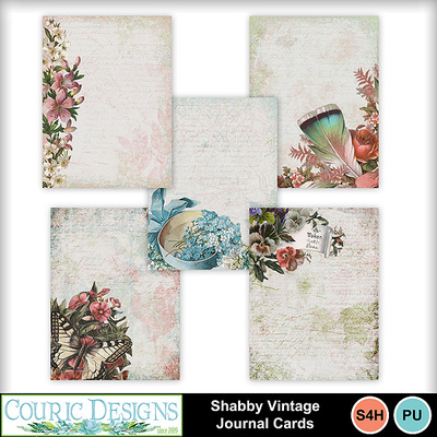 Shabby-vintage-journal-cards