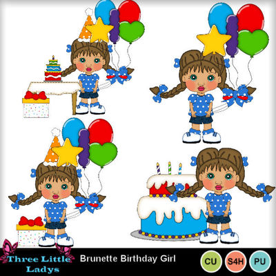 Brunette_birthday_girls