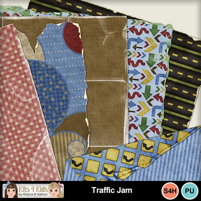 Traffic-jam-shabby-papers