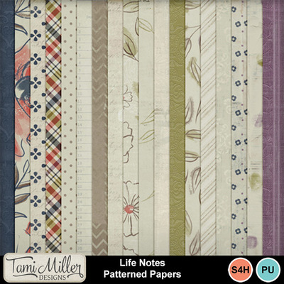 Life_notes_patterned_papers