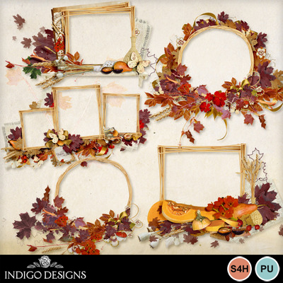 Shabby_autumn_cluster_frames