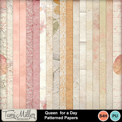 Queen_for_a_day_patterned_papers