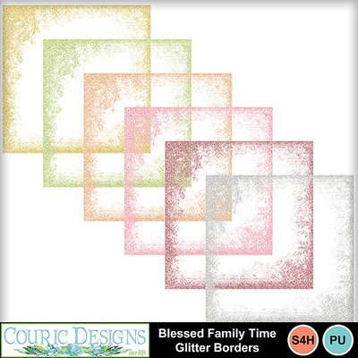 Blessed-family-time-glitter-borders