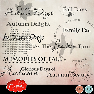 Fall_days_word_art