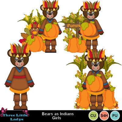 Bears_as_indians_girls