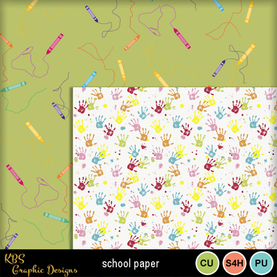Digital Scrapbooking Kits | School Papers-(kbs48