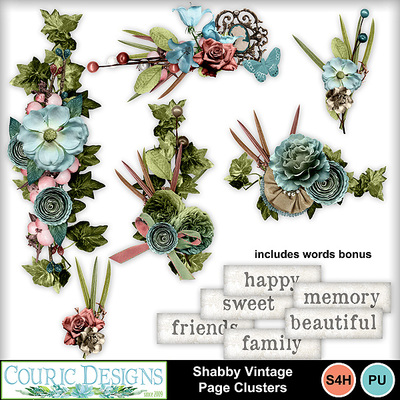 Shabby-vintage-page-clusters
