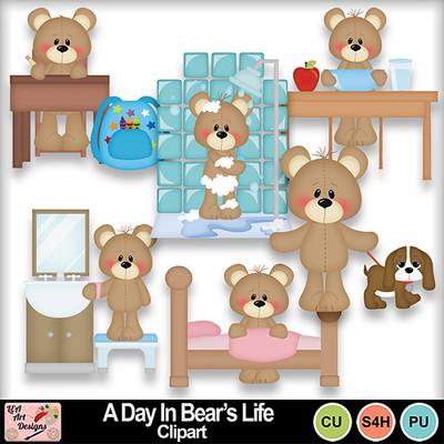 A_day_s_in_bears_life_clipart_preview