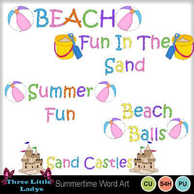 Summertime_word_art