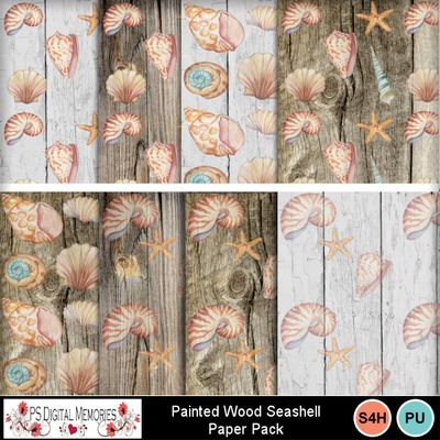 Painted_wood_seashells