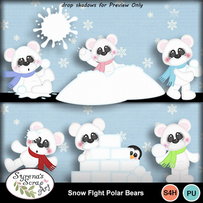 Snow_fight_polar_bears