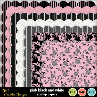 Pink_black_white_scallop_papers_preview