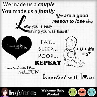 Welcome_baby_wordart