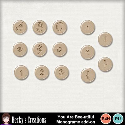 You_are_bee-utiful_monogram_add-on