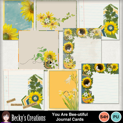 You_are_bee-utiful_journal_cards
