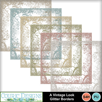 A-vintage-look-glitter-borders