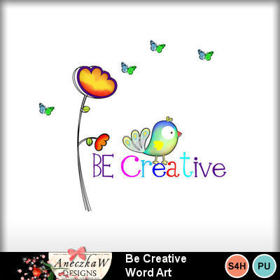 Be_creative_word_art