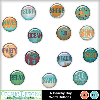 A-beachy-day-word-buttons