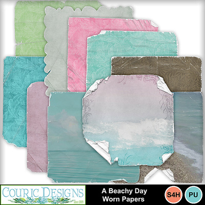A-beachy-day-worn-papers